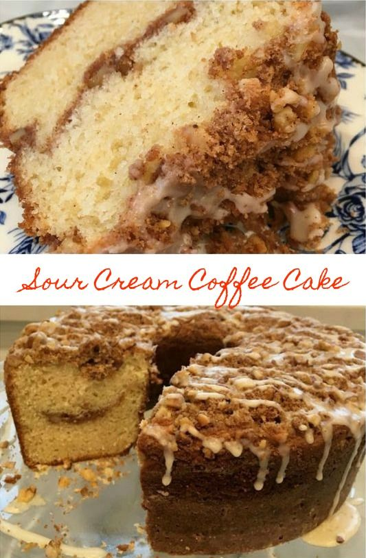 Sour Cream Coffee Cake Best Coffee Cake Recipe Coffee Cake Recipes Sour Cream Coffee Cake