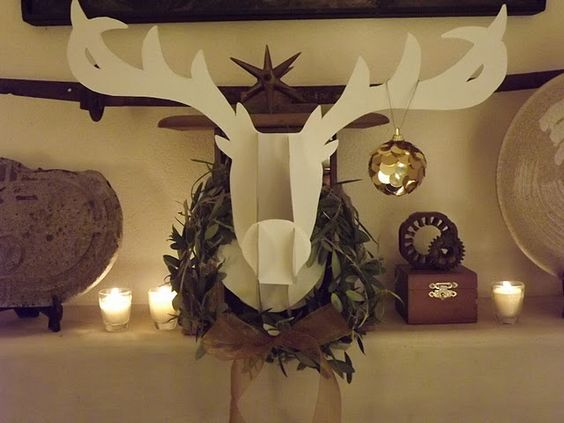 Reindeer head DIY