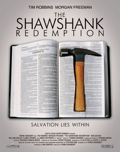 """Salvation Lies Within"" is my favorite line from my favorite movie!! Words are so powerful, especially in this movie!"