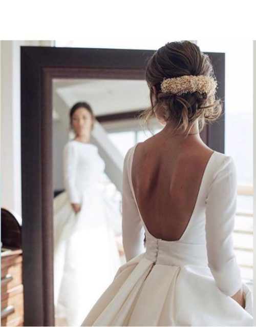 The Best Fall Wedding Hairstyles And Hair Accessories Ball Gowns Wedding Ivory Bridal Gown Wedding Dresses Satin