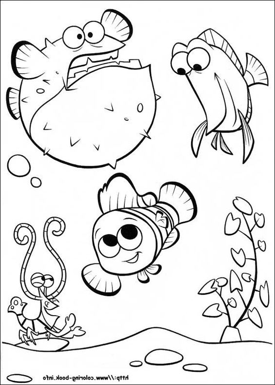 Finding nemo coloring pages, Coloring pages and Disney