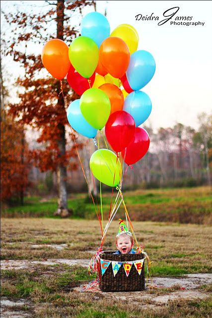 Baby and balloons!- Mia 2 nd birthday