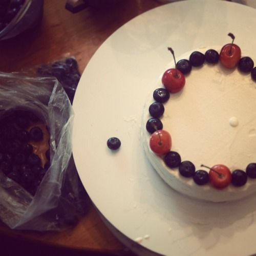 ブルーベリーショートケーキ!