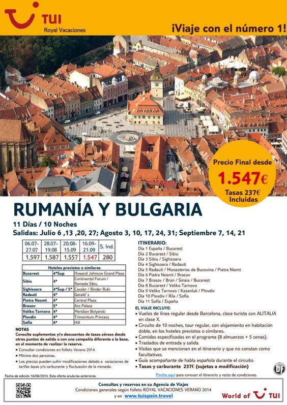 Rumanía y Bulgaria. 11 noches. De Julio a Septiembre. Precio final desde 1.547€ ultimo minuto - http://zocotours.com/rumania-y-bulgaria-11-noches-de-julio-a-septiembre-precio-final-desde-1-547e-ultimo-minuto/