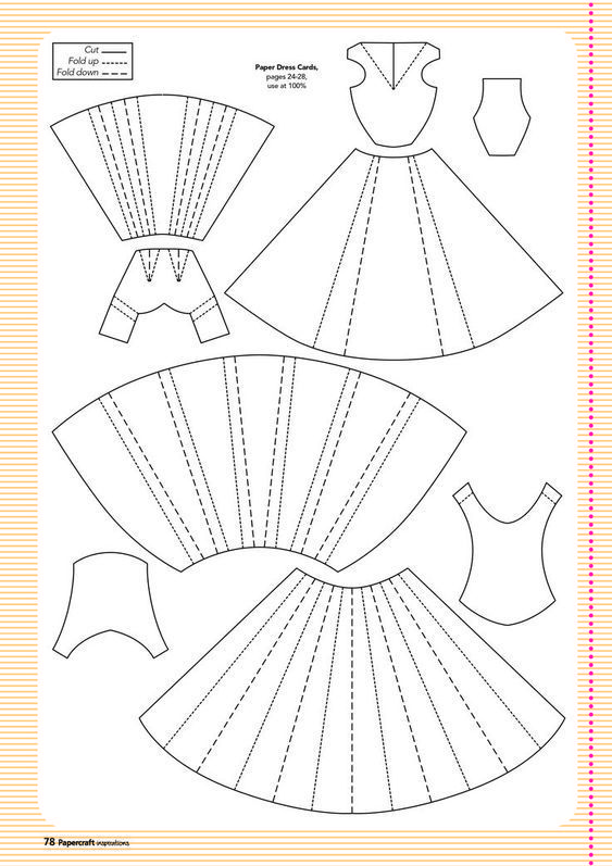 Paper Fold Dress Pattern Yahoo Image Search Results Dollhandmade Dollhandmadeeyes Dollhandmadefrida Doll Paper Embroidery Paper Dress Cards Handmade