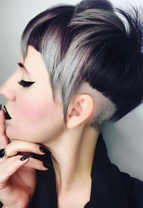 51 Edgy And Rad Short Undercut Hairstyles For Women Edgy Women Hairstyles For Rad Sh Ed Frisur Undercut Kurze Haare Mit Stufen Undercut Frisuren Damen