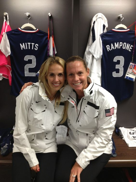 Heather Mitts and Christie Rampone. (@heathermitts/Twitter ...