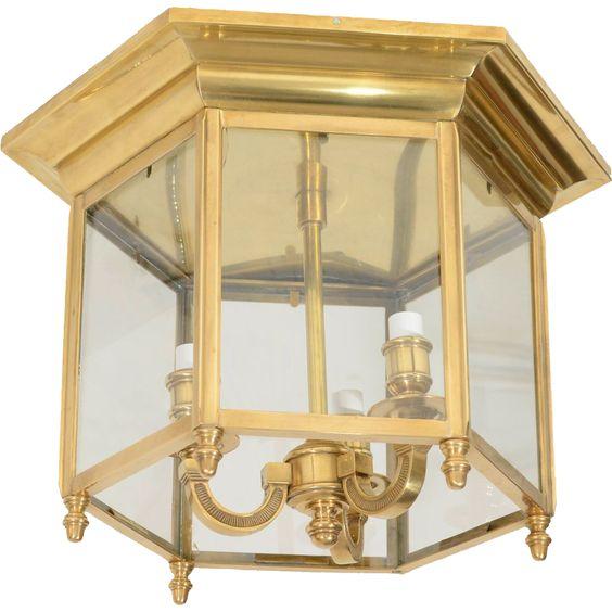 A Continental Brass Lantern