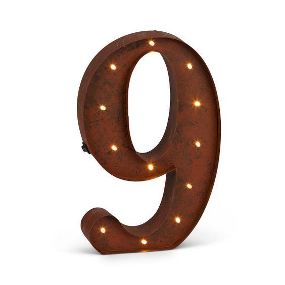 "Rustic Light Number ""9"""