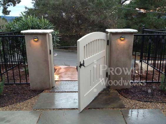 Wooden Gate Stone Columns Arbor Google Search Gate