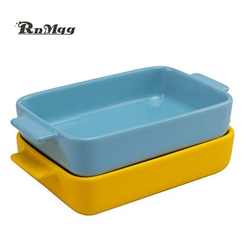 Rnmgg Creative Ceramic Bakeware Set Large Capacity Rectangular Baking Dish Lasagna Pans For Cooking In 2020 Ceramic Bakeware Set Ceramic Bakeware Bakeware Set