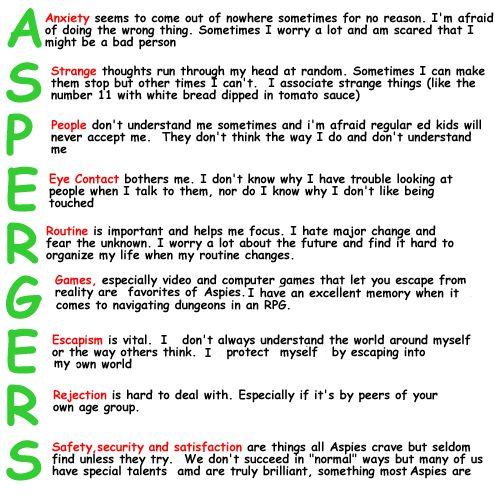 characteristics of adult aspergers syndrome