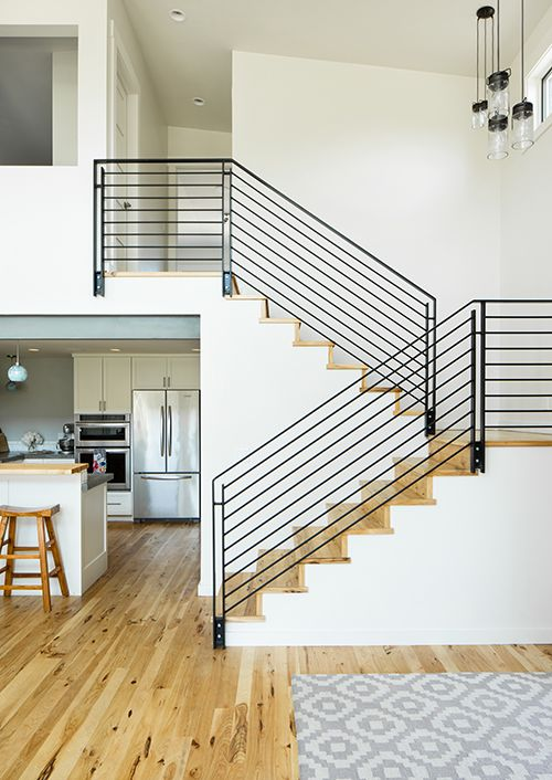 Modern Staircase In A Classic U Shape Or Scissor Style Staircase Modernhome Stairs Design Modern Home Stairs Design U Shaped Staircase