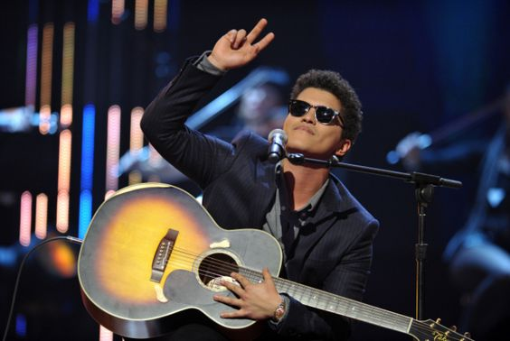 "Bruno Mars performs ""Just The Way You Are"" during ""The GRAMMY Nominations Concert Live!!"" in 2010.  The 55th GRAMMY Awards airs 2/10/13 on CBS! #TheWorldIsListening"