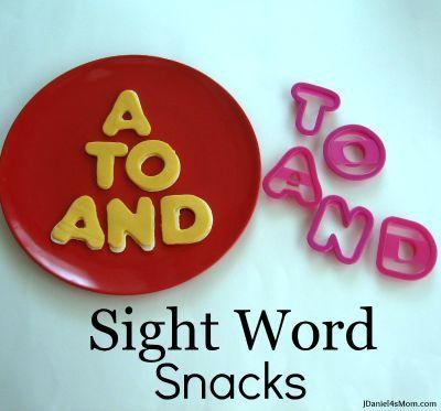 Sight Word Snacks