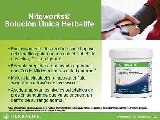 Antes De Dormir Herbalife Niteworks Producto Formulado Para El Cuidado Del Sistema Vascular Y Circulatori Herbalife Herbal Medicine Recipes Herbal Medicine