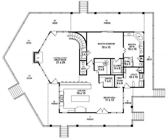 House plans outdoor living and chang 39 e 3 on pinterest Outdoor living floor plans