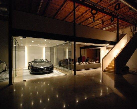 Fantastic Garage Design The Car Cave Night View Sport Sedan Luxury Sports Cars Garage Design Luxury Garage Car Showroom Design