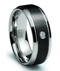 Image result for mens wedding rings with black diamonds
