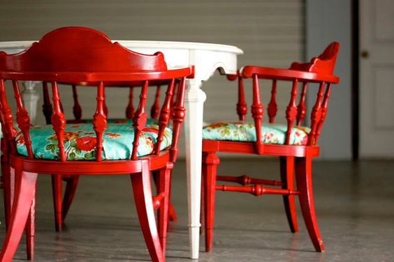 Captains chairs red painted furniture painted furniture and chairs