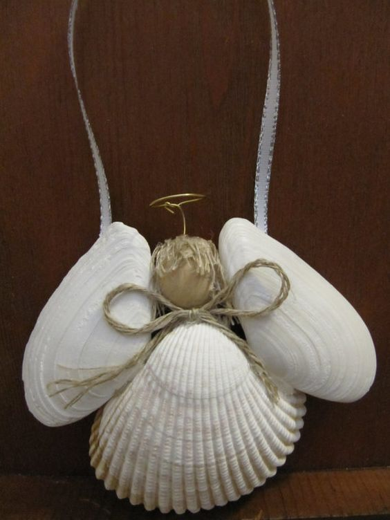 easy angel shell ornament seashells as the body and