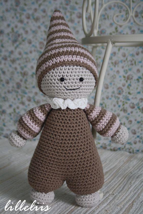 Crochet Amigurumi For Baby : Pattern cuddly baby amigurumi doll crochet toy
