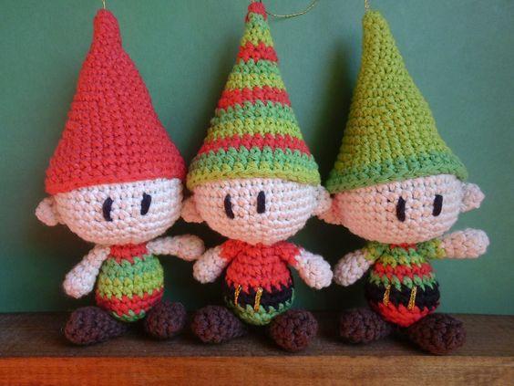 Christmas Elves Amigurumi : Duendes Navidenos Amigurumi, Es un Mundo Amigurumi ...