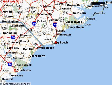 Map Of South Carolina Beaches Coastal South Carolina South - Map of nc and sc