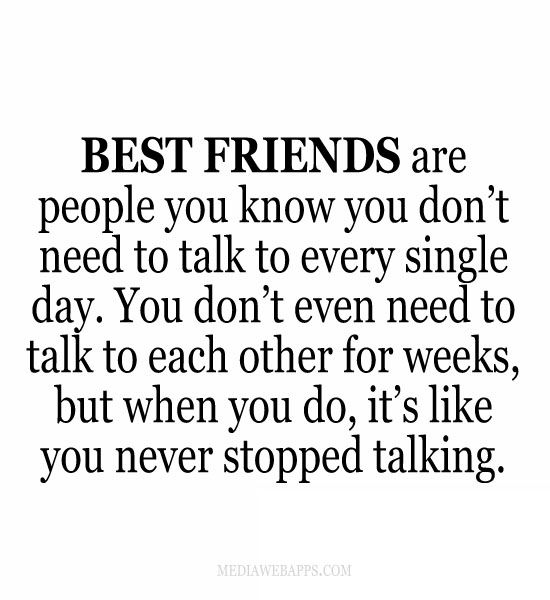 Quotes Friends You Dont See Often : Best friends are people you know don t need to talk