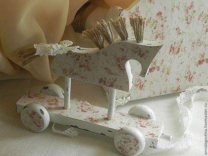 """Лошадка интерьерная """"Любимое шебби..."""" - белый,для дома и интерьера,интересный подарок"""