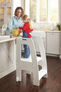 Kitchen Helper Step Stool in White