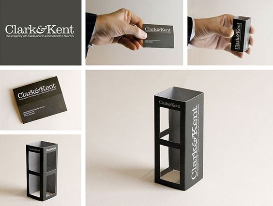 Clark & Kent Superman Business Card // 255 Creative & Unique Business Cards Design Inspiration & Ideas