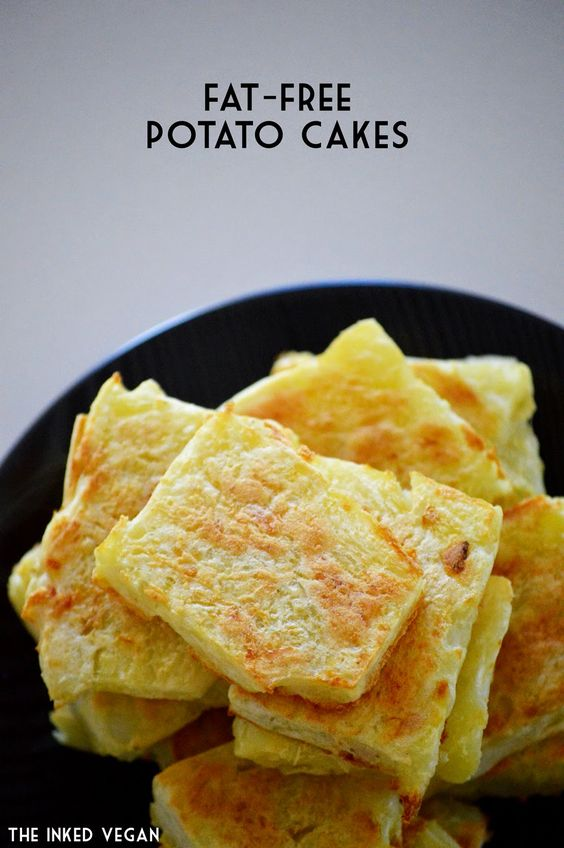 The Inked Vegan: Fat Free Vegan Potato Cakes for Meatless Monday