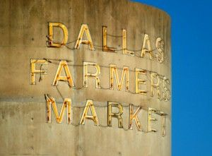 Old Dallas Farmers Market Sign - Dallas Farmer's Market field trip for Big Grey Horse Media. I never realized there was so much local produce available so late in the year!