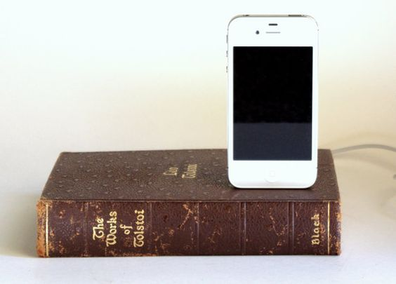 hollow out old books and add an ipod charger for an ipod dock.