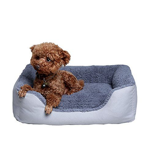 Petwe Pet Bed Soft Plush Orthopedic Dog Bed Reversible Bolster Pillow With Removable Washable Cover Small Medium Plush Dog Bed Cool Dog Beds Orthopedic Dog Bed