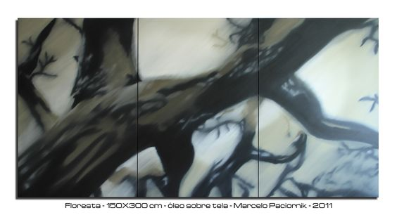 """""""Forest"""" 150X300cm oil on canvas"""