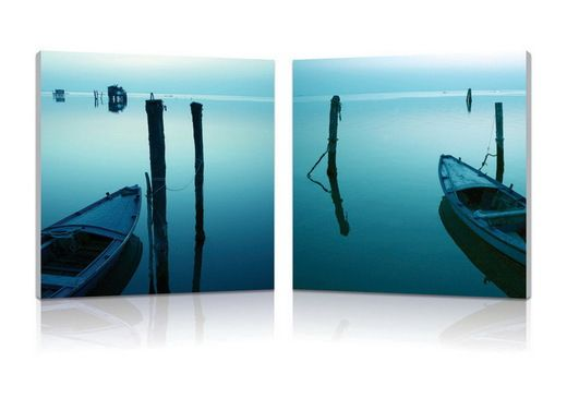 Wholesale Interiors Baxton Studio Idle Shore Mounted Photography Print Diptych