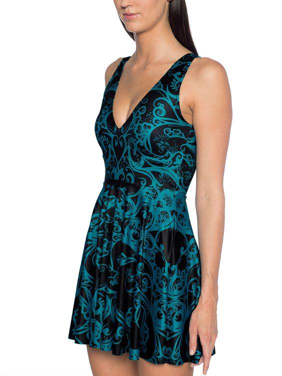 Teal Bath Marilyn Dress - 48HR (AU $95AUD) by Black Milk Clothing