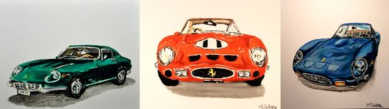 Mitchell Schorr's Cars paintings