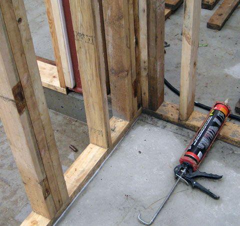 Stud Wall On Concrete Slab