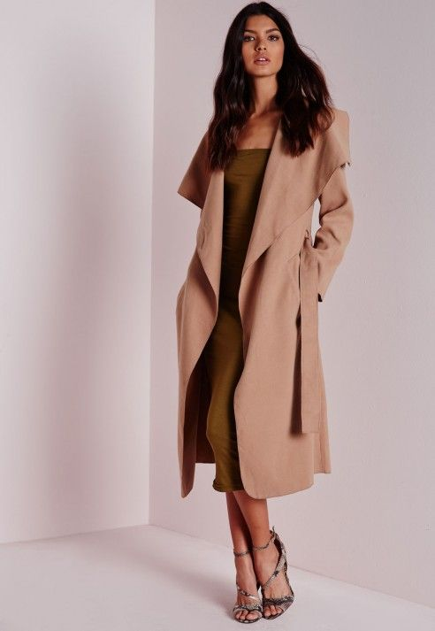Belted Waterfall Coat Camel - Coats and Jackets - Waterfall Coats