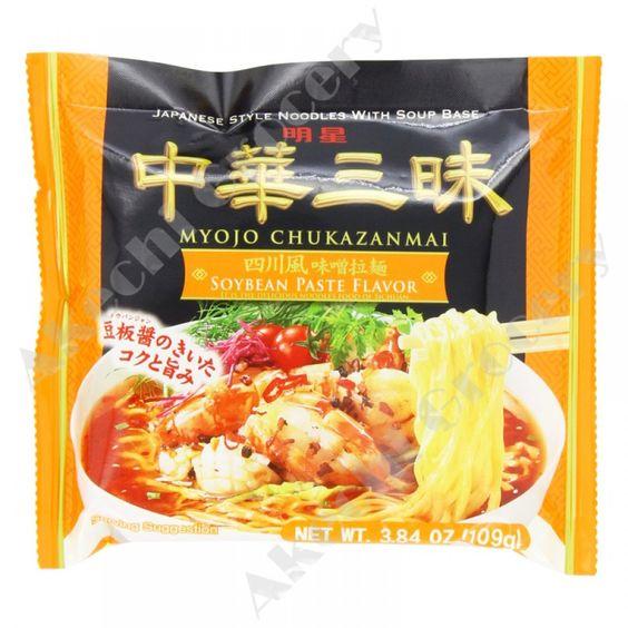 Myojo Chukazanmai Instant Ramen Miso Soybean Paste Flavor 3.84 OZ