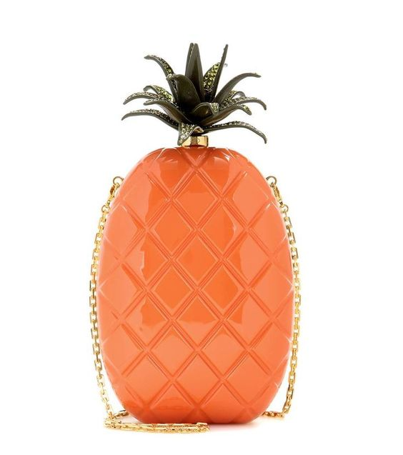 Valentino - Pineapple box clutch