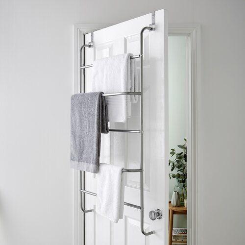 Symple Stuff Curl Over The Door Towel Rack In 2020 Towel Rack