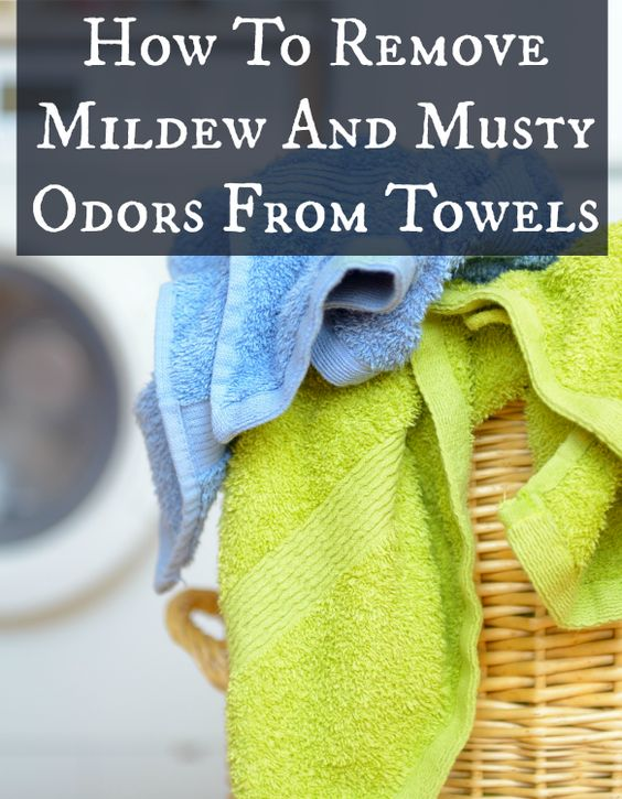 how to clean smelly towels