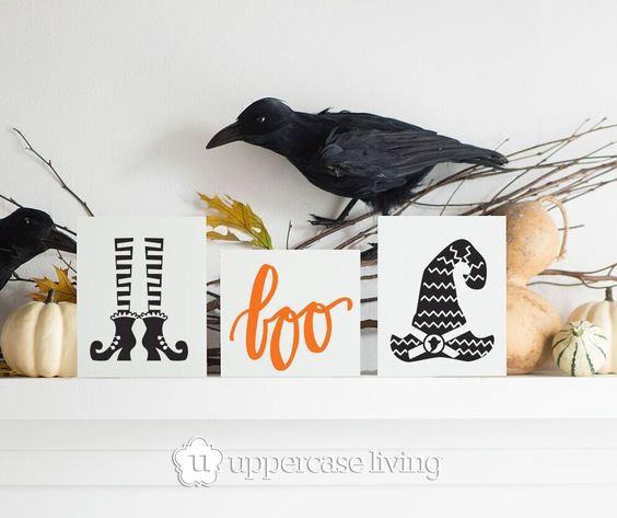 Inspirational and fun vinyl designs for every part of your life and home ~ Kimberly.uppercaseliving.net #UppercaseLiving #HalloweenDecor #Boo #WitchDecorations