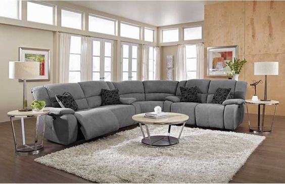 Living Room Decoration Ideas: Small reclining sofa with round ...