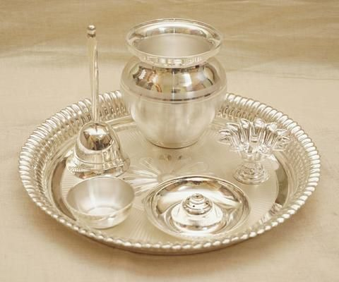 Pure Silver Pooja Thali Bis Hallmarked In 2020 Pure Silver Silver Pure Products