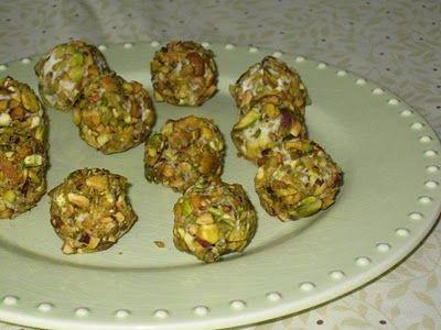 Roquefort Grapes with Pistachios